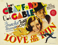 "Movie Posters:Comedy, Love on the Run (MGM, 1936). Title Lobby Card and Lobby Card (11"" X 14""). ... (Total: 2 Items)"