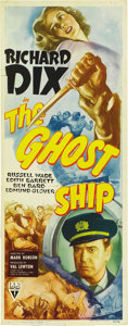 """Movie Posters:Horror, The Ghost Ship (RKO, 1943). Insert (14"""" X 36""""). ..."""