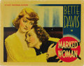 """Movie Posters:Crime, Marked Woman (Warner Brothers, 1937). Lobby Card (11"""" X 14"""")...."""