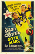 "Movie Posters:Comedy, Abbott and Costello Go to Mars (Universal International, 1953). OneSheet (27"" X 41""). Comedy.. ..."