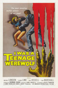 "Movie Posters:Horror, I Was a Teenage Werewolf (American International, 1957). One Sheet(27"" X 41""). ..."