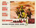 "Movie Posters:Western, Rio Bravo (Warner Brothers, 1959). Half Sheet (22"" X 28""). ..."