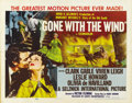 "Movie Posters:Academy Award Winner, Gone with the Wind (MGM, R-1954). Half Sheet (22"" X 28"") Style A...."