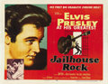 "Movie Posters:Elvis Presley, Jailhouse Rock (MGM, 1957). Half Sheet (22"" X 28"") Style A. ..."
