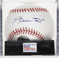 Autographs:Baseballs, Willie Mays Single Signed Baseball, PSA Gem Mint 10. Hall of Famecenterfield wizard Willie Mays offers up a gem of a single...