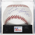 Autographs:Baseballs, Miguel Cabrera Single Signed Baseball, PSA Mint 9. The Marlinsthird base phenom Miguel Cabrera provides a top-notch sweet s...