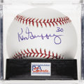 "Autographs:Baseballs, Ken Griffey, Sr. ""30"" Single Signed Baseball, PSA Mint+ 9.5. Thesenior Ken Griffey delivers a near flawless application of ..."