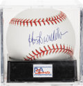 Autographs:Baseballs, Hoyt Wilhelm Single Signed Baseball, PSA Mint+ 9.5. The long-timeknuckleballer completed his career with over 1,000 appeara...