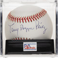 "Autographs:Baseballs, Tony ""Doggie"" Perez Single Signed Baseball, PSA Mint 9. The Hall ofFame cog in the Big Red Machine makes mention to his ni..."