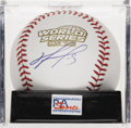 "Autographs:Baseballs, David Ortiz 2004 World Series Single Signed Baseball, PSA Mint 9.""Big Papi"" will forever be a Boston hero after his heroic ..."