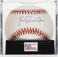 Autographs:Baseballs, Tommy Lasorda Single Signed Baseball, PSA NM-MT+ 8.5. As the highlysuccessful Dodgers manager for 21 seasons Tommy Lasorda ...