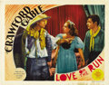 "Movie Posters:Comedy, Love on the Run (MGM, 1936). Lobby Cards (3) (11"" X 14""). ...(Total: 3 Items)"
