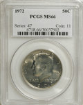Kennedy Half Dollars: , 1972 50C MS66 PCGS. PCGS Population (114/11). NGC Census: (47/4).Mintage: 153,180,000. Numismedia Wsl. Price for NGC/PCGS ...