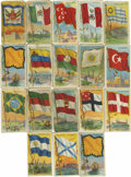 "Miscellaneous Collectibles:General, 1909-11 T59 ""Flags of All Nations"" Group Lot of 207. A very populartobacco card issue, believed to have been distributed fr..."