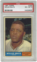 Baseball Cards:Singles (1960-1969), 1961 Topps Willie Mays #150 PSA EX-MT 6. Another quality entry ofMays' #150 card from the 1961 Topps baseball issue shows ...