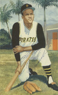 "Autographs:Photos, Roberto Clemente Signed Color Illustration (5"" x 8-1/4""). ..."