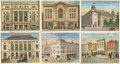 "Non-Sport Cards:General, Circa 1910-12 T108 ""Theatres Old and New Series"" Near Set (44/50)...."