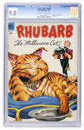 Golden Age (1938-1955):Miscellaneous, Four Color #466 Rhubarb the Millionaire Cat (Dell, 1953) CGC VF/NM 9.0 Off-white to white pages....