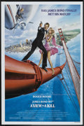 "Movie Posters:James Bond, A View to a Kill (United Artists, 1985). One Sheet (27"" X 41"")Style B. James Bond.. ..."