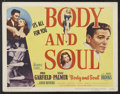 "Movie Posters:Film Noir, Body and Soul (United Artists, 1947). Lobby Card Set of 8 (11"" X 14""). Film Noir.. ... (Total: 8 Items)"