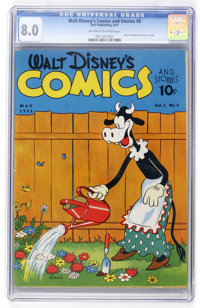 Walt Disney's Comics and Stories #8 (Dell, 1941) CGC VF 8.0 Off-white to white pages