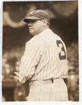 Baseball Collectibles:Photos, 1929 Babe Ruth Photograph from Culver Pictures Archives....