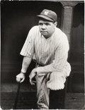 Baseball Collectibles:Photos, Circa 1927 Babe Ruth Photograph from Culver Pictures Archives....