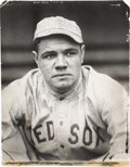 Baseball Collectibles:Photos, Circa 1918 Babe Ruth Photograph from Culver Pictures Archives....