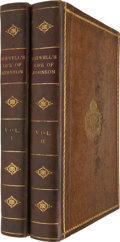 Books:First Editions, James Boswell. The Life of Samuel Johnson. London: Printedby Henry Baldwin, for Charles Dilly, 1791.... (Total: 2 Items)