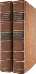 Books:First Editions, Samuel Johnson. A Dictionary of the English Language: In Which The Words are deduced from their Originals, and Illustrat... (Total: 2 Items)