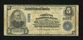 National Bank Notes:Virginia, Norfolk, VA - $5 1902 Plain Back Fr. 601 The Virginia NB Ch. #9885. ...