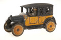 Antiques:Toys, Arcade Cast Iron Yellow Taxi Bank....