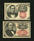 Fractional Currency:Fifth Issue, Fr. 1266 10c Fifth Issue New. Fr. 1309 25c Fifth Issue About New..... (Total: 2 notes)