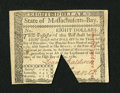 Colonial Notes:Massachusetts, Massachusetts May 5, 1780 $8 Choice About New....