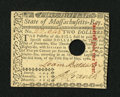 Colonial Notes:Massachusetts, Massachusetts May 5, 1780 $2 Choice About New....