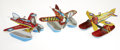 Antiques:Toys, Lot of Three Windup Toy Seaplanes.... (Total: 3 Items)