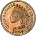 Proof Indian Cents, 1886 1C Type Two PR65 Red and Brown PCGS....