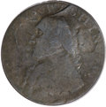 Colonials, 1795 1/2P Washington North Wales Halfpenny, Two Stars at Each Side of Harp Fine 15 PCGS....