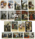 Political:Small Paper (1896-present), Woman's Suffrage: Seventeen English Color Comic Photo Cards....(Total: 17 Items)