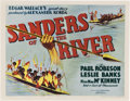 "Movie Posters:Adventure, Sanders of the River (United Artists, 1935). Half Sheet (22"" X 28"").. ..."