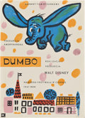 "Movie Posters:Animated, Dumbo (RKO, R-1961). Polish One Sheet (16.5"" X 23"").. ..."