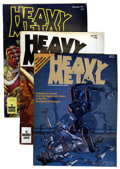 Magazines:Science-Fiction, Heavy Metal Group (HM Communications, 1977-80) Condition: Average VG/FN.... (Total: 28 Comic Books)