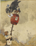 Works on Paper, HARRY ROUNTREE (English 1878 - 1950). Children's book illustration. Watercolor on paper. 10 x 7.5 in.. Signed lower righ...