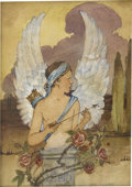 Paintings, JESSIE WILLCOX SMITH (American 1863 - 1935). Cupid, 1907. Watercolor on paper. 5.5 x 4 in.. Signed lower right. ...