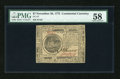 Colonial Notes:Continental Congress Issues, Continental Currency November 29, 1775 $7 PMG Choice About Unc58....