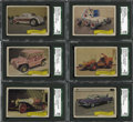 "Non-Sport Cards:General, 1975 Fleer ""Kustom Cars II"" Stickers Complete Set (39). ..."