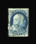 Stamps, #19, 1857, 1c Blue. (Used)....