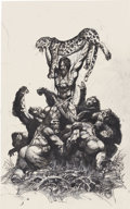 Mainstream Illustration, SIMON BISLEY (English b. 1962). Tarzan. Mixed-media onpaper. 18.5 x 11.5 in.. Not signed...