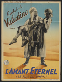 """The Son of the Sheik (Astra Paris Films, R-1930s). French Petite (23.5"""" X 31""""). Adventure"""