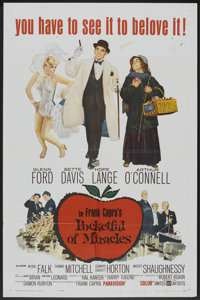 "Pocketful of Miracles (United Artists, 1962). One Sheet (27"" X 41""). Comedy"